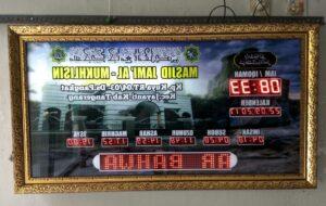 Penjual Jam Digital Masjid
